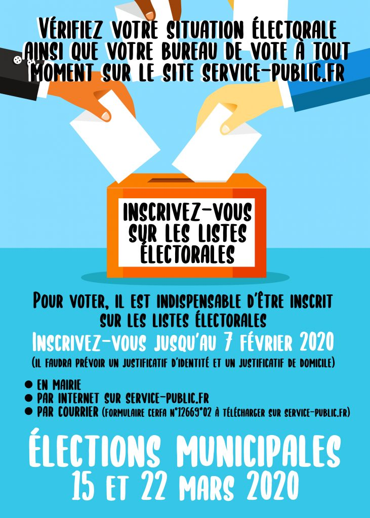affiche inscription élections